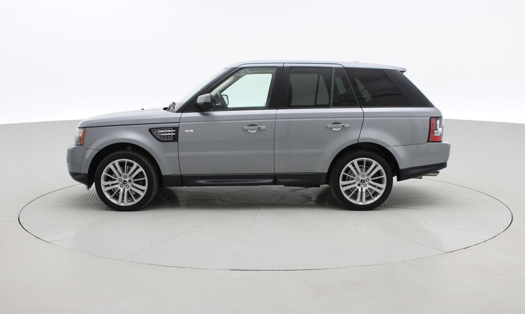 Gray[Orkney Grey Metallic] 2012 Land Rover Range Rover HSE LUX 4WD - Navigation, Almond Leather Left Side Photo in Winnipeg MB