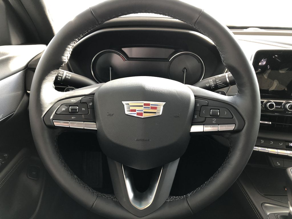 White[Crystal White Tricoat] 2020 Cadillac CT4 Strng Wheel: Frm Rear in Edmonton AB