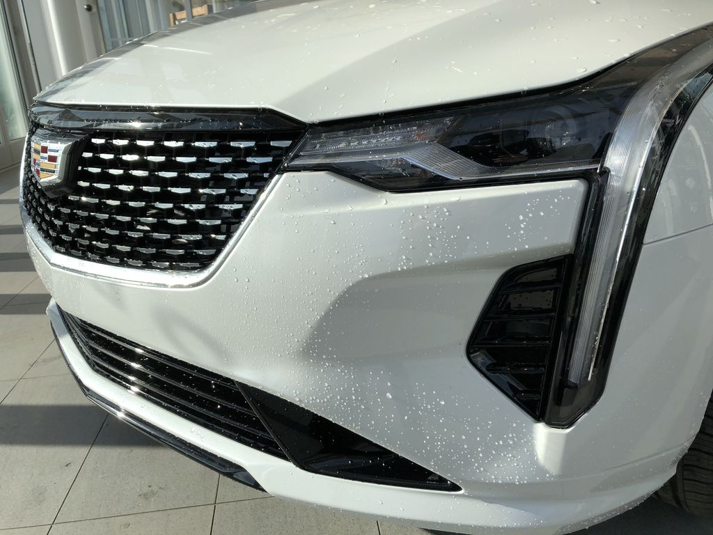 White[Crystal White Tricoat] 2020 Cadillac CT4 Left Front Head Light / Bumper and Grill in Edmonton AB