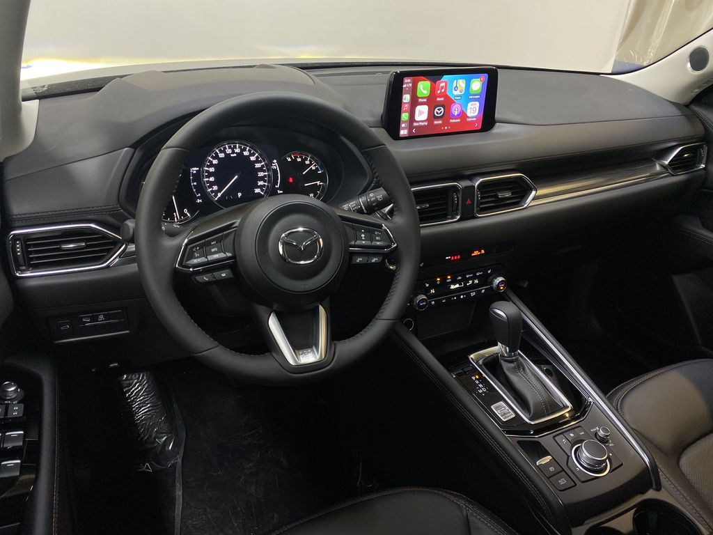JET BLACK MICA(41W) 2021 Mazda CX-5 GT AWD Steering Wheel and Dash Photo in Edmonton AB