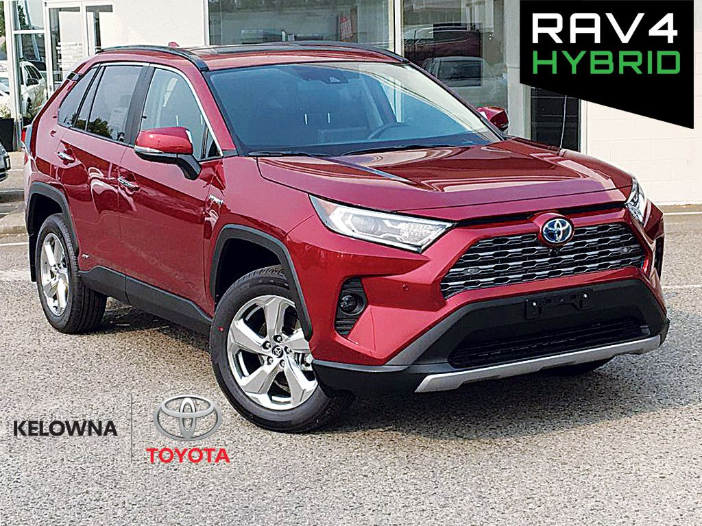 Red[Ruby Flare Pearl] 2020 Toyota RAV4 Hybrid Limited
