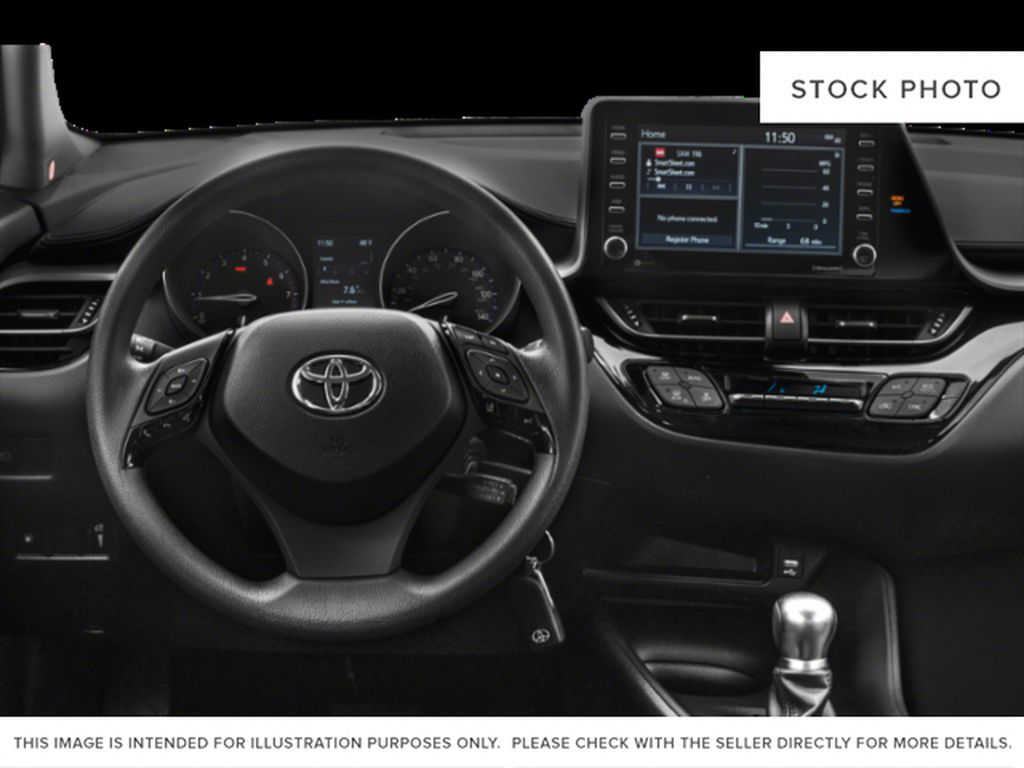 Black[Black Sand Pearl w/Silver Roof] 2021 Toyota C-HR Limited Steering Wheel and Dash Photo in Kelowna BC