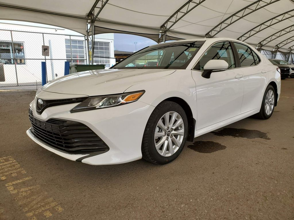 White 2019 Toyota Camry Trim Specific Photo in Airdrie AB