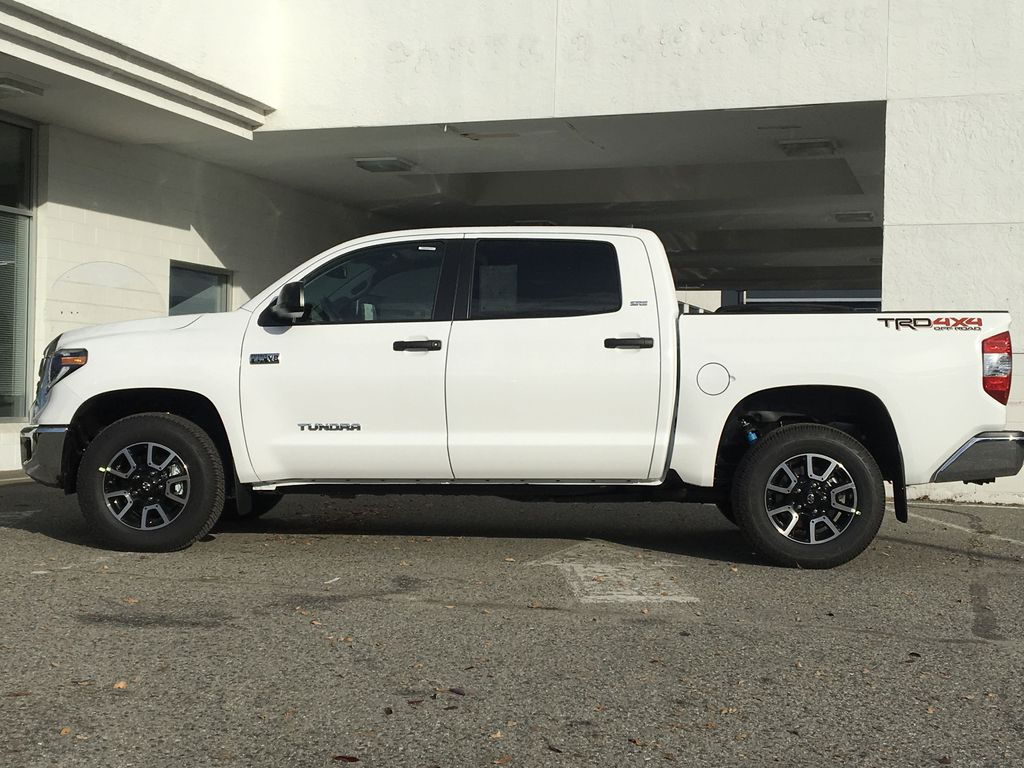 0040 Super White 2021 Toyota Tundra TRD Off Road Left Side Photo in Kelowna BC