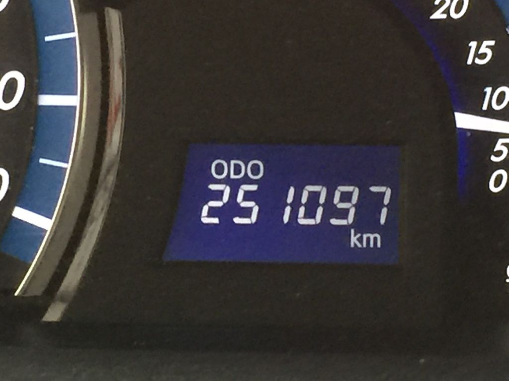 Blue[Parisian Night Pearl] 2014 Toyota Camry Hybrid XLE Odometer Photo in Sherwood Park AB