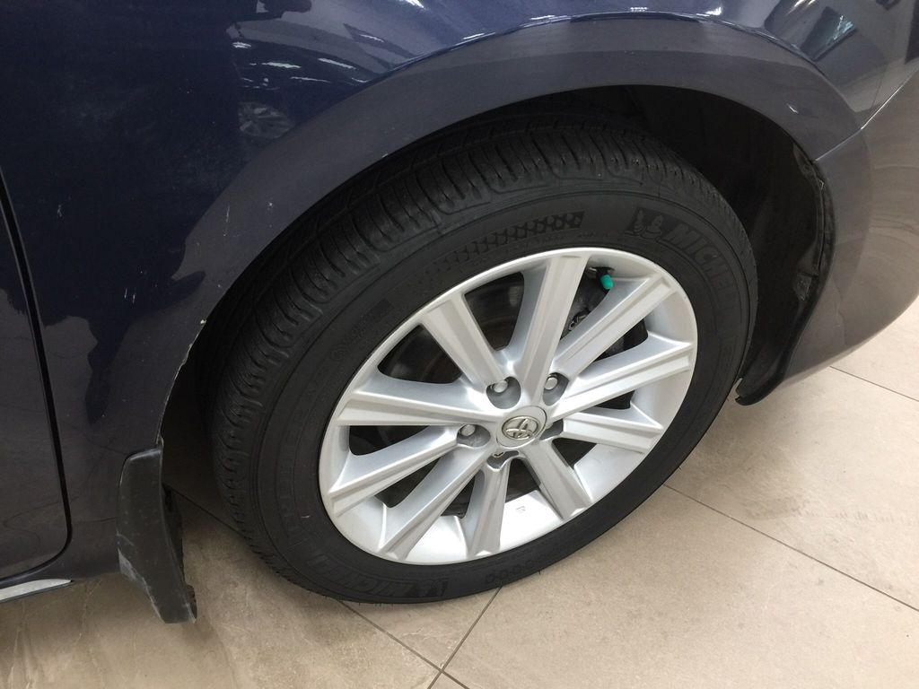 Blue[Parisian Night Pearl] 2014 Toyota Camry Hybrid XLE Right Front Rim and Tire Photo in Sherwood Park AB