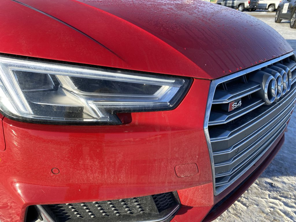 Red[Misano Red Pearl] 2018 Audi S4 Sedan Left Front Head Light / Bumper and Grill in Edmonton AB