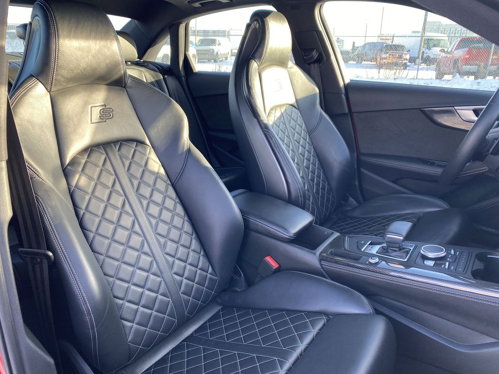 Red[Misano Red Pearl] 2018 Audi S4 Sedan Right Side Front Seat  Photo in Edmonton AB
