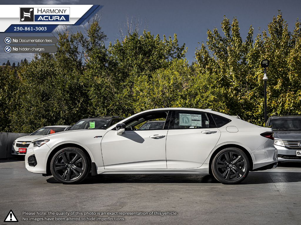 WHITE NH-883P 2021 Acura TLX Left Side Photo in Kelowna BC