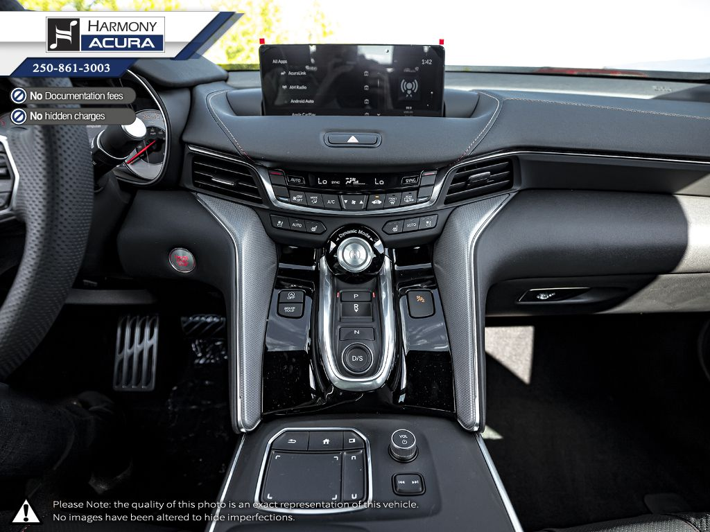 WHITE NH-883P 2021 Acura TLX Central Dash Options Photo in Kelowna BC