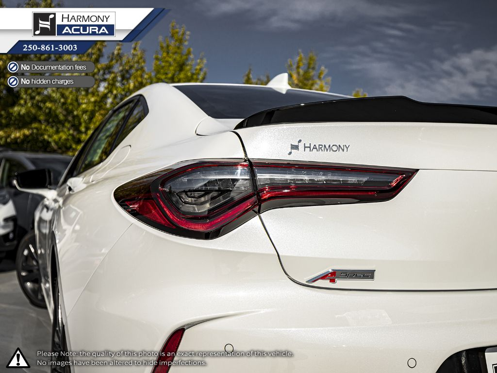 WHITE NH-883P 2021 Acura TLX Rear of Vehicle Photo in Kelowna BC