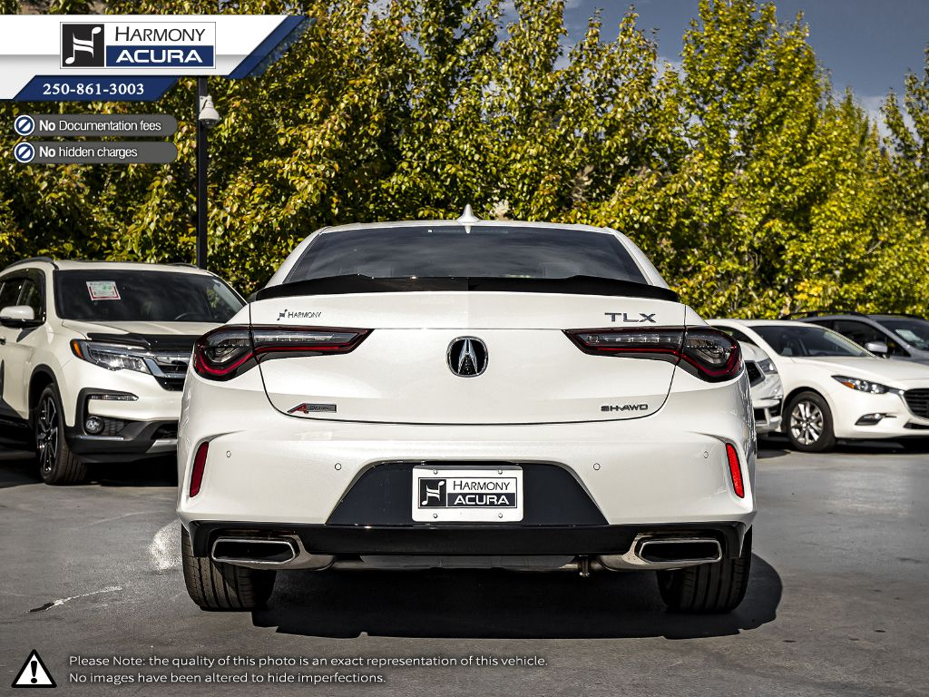 WHITE NH-883P 2021 Acura TLX Trunk / Cargo Area Photo in Kelowna BC