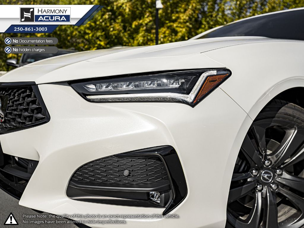 WHITE NH-883P 2021 Acura TLX Left Side Rear Seat  Photo in Kelowna BC