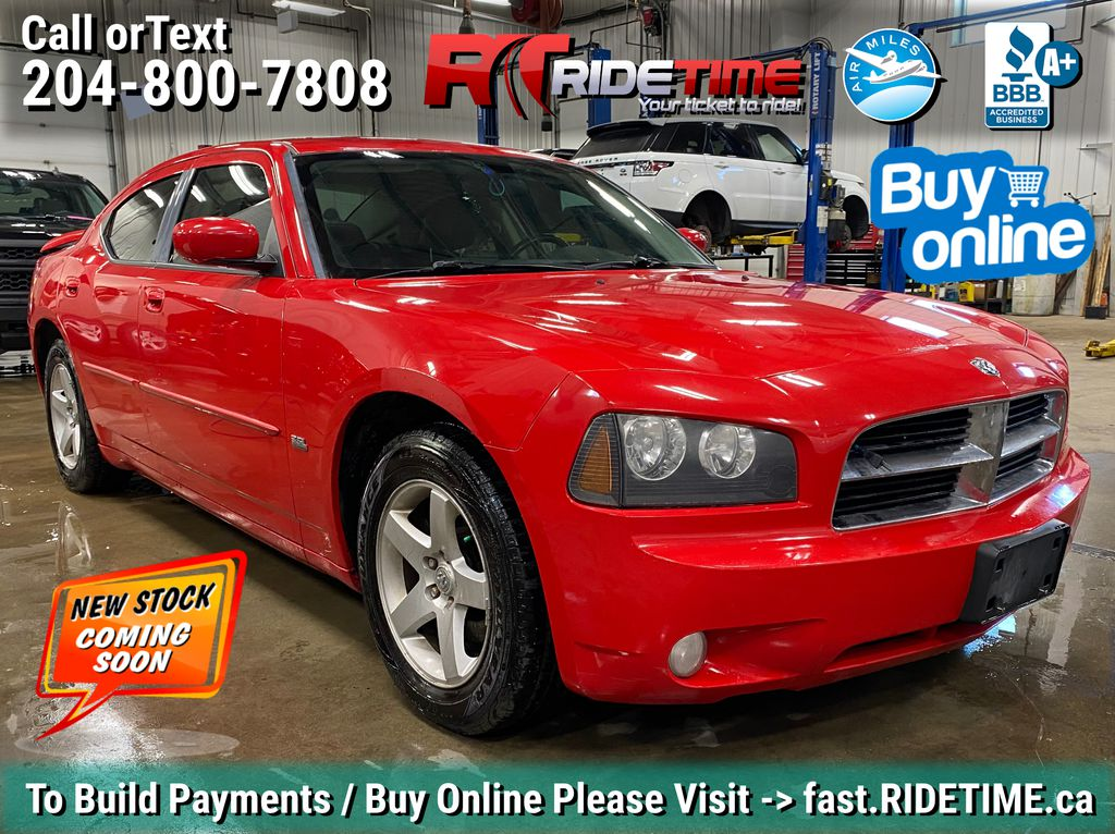 Red[Torred] 2010 Dodge Charger SXT - Leather, Rear Spoiler, Alloy Wheels