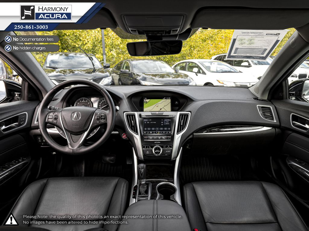 Black 2018 Acura TLX Left Front Seat Photo in Kelowna BC