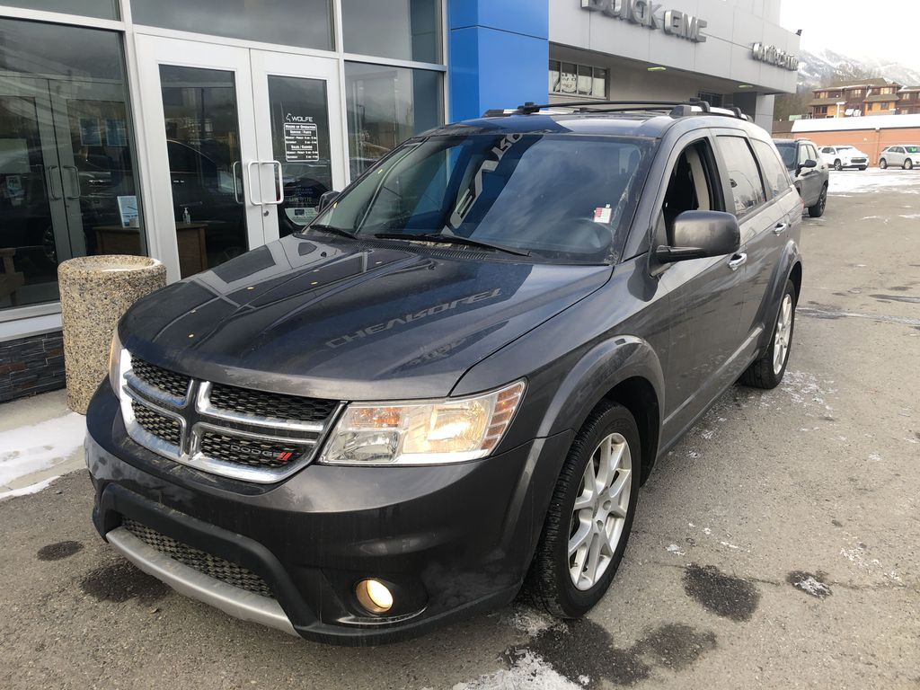 Gray[Granite Crystal Metallic] 2015 Dodge Journey R/T Left Front Corner Photo in Canmore AB