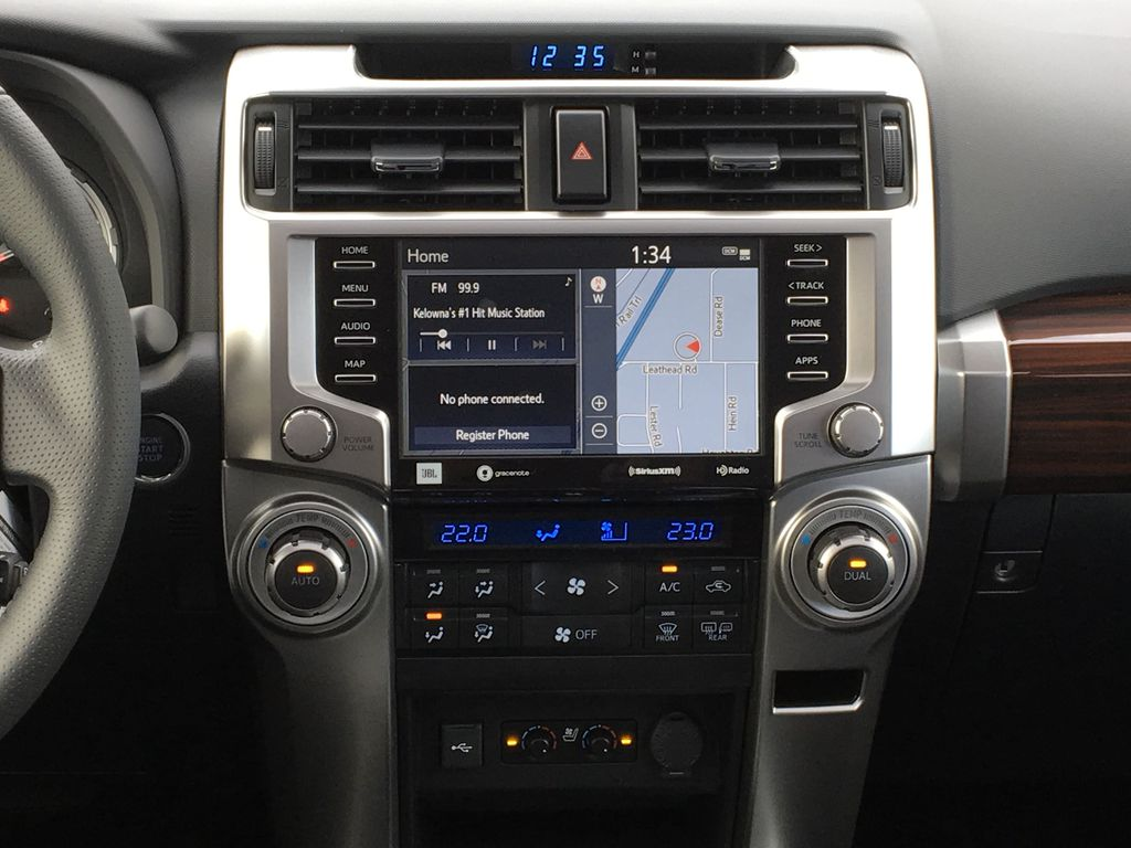 Silver[Classic Silver Metallic] 2021 Toyota 4Runner Limited Central Dash Options Photo in Kelowna BC