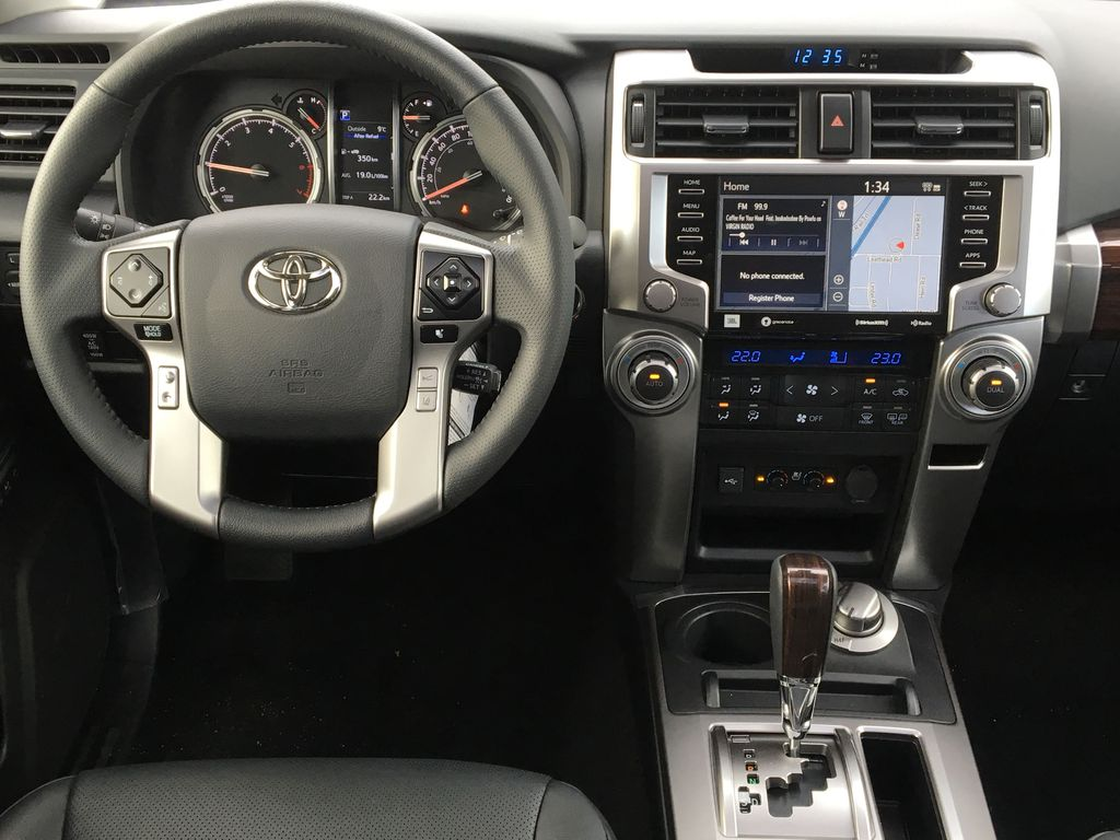 Silver[Classic Silver Metallic] 2021 Toyota 4Runner Limited Steering Wheel and Dash Photo in Kelowna BC