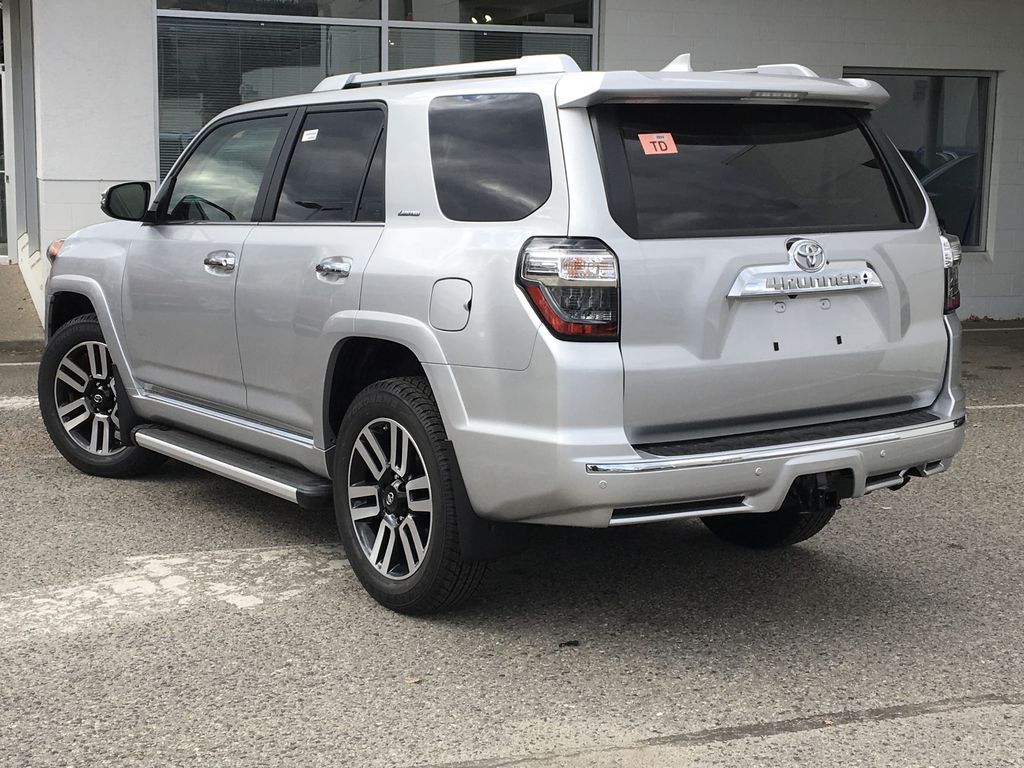 Silver[Classic Silver Metallic] 2021 Toyota 4Runner Limited Left Rear Corner Photo in Kelowna BC