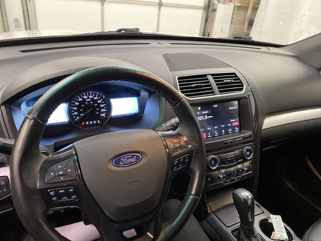 Black[Shadow Black] 2017 Ford Explorer Steering Wheel and Dash Photo in Dartmouth NS