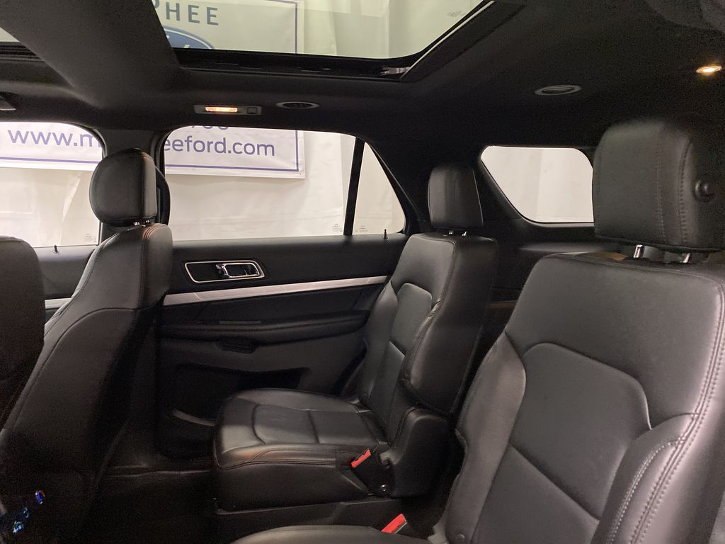 Black[Shadow Black] 2017 Ford Explorer Left Side Rear Seat  Photo in Dartmouth NS