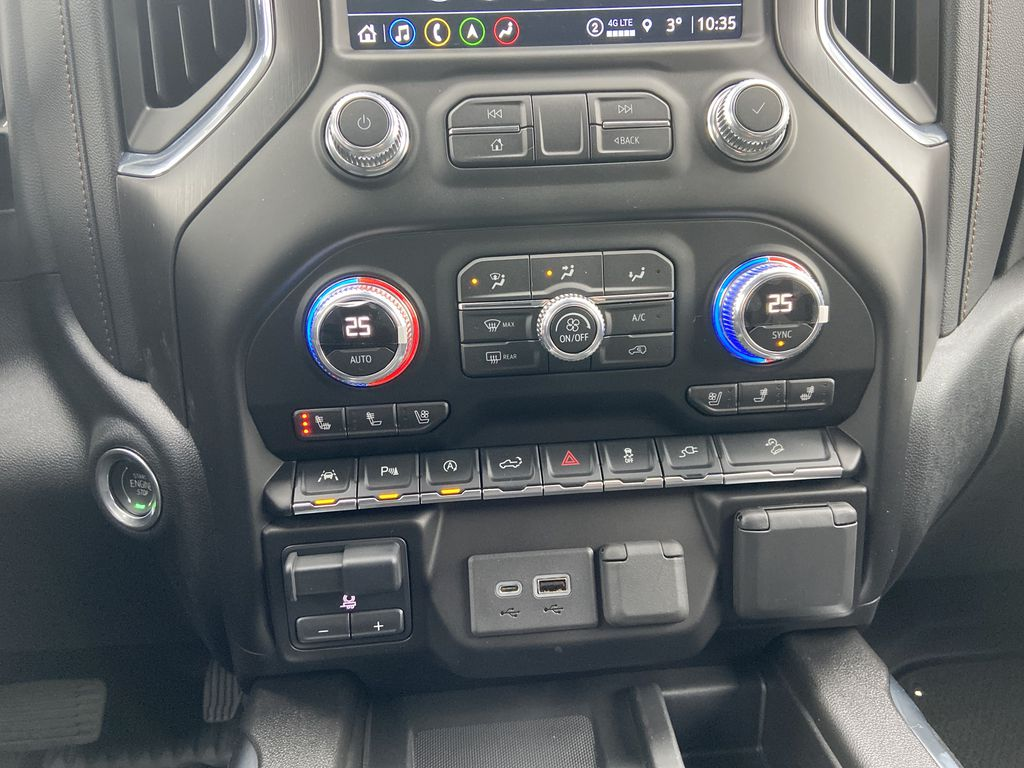 White[Summit White] 2021 GMC Sierra 1500 AT4 Central Dash Options Photo in Calgary AB