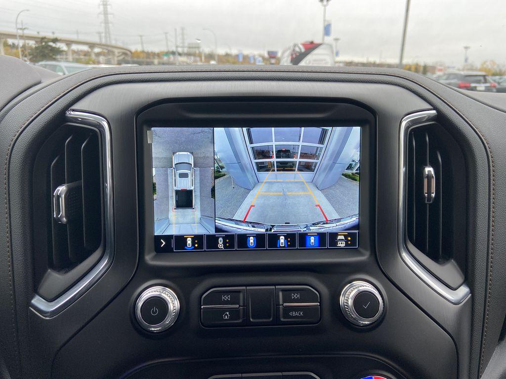 White[Summit White] 2021 GMC Sierra 1500 AT4 Backup Camera Closeup Photo in Calgary AB