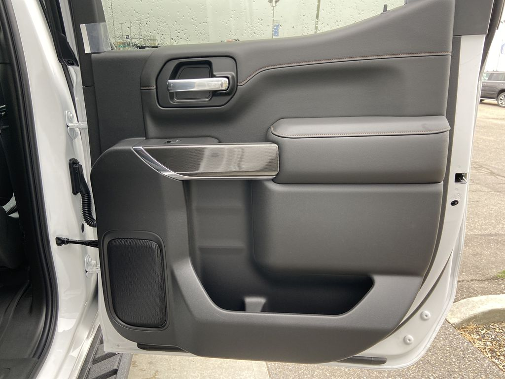 White[Summit White] 2021 GMC Sierra 1500 AT4 Right Rear Interior Door Panel Photo in Calgary AB