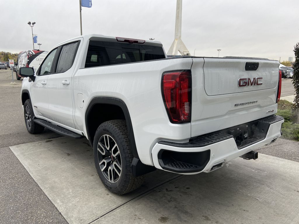 White[Summit White] 2021 GMC Sierra 1500 AT4 Left Rear Corner Photo in Calgary AB