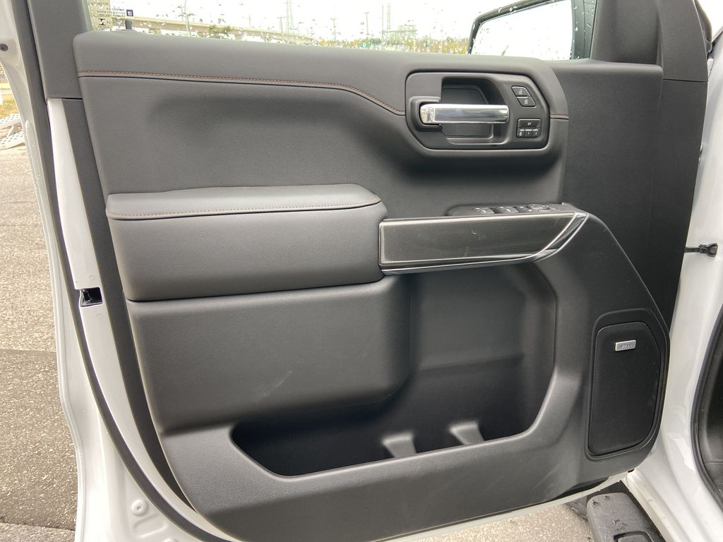 White[Summit White] 2021 GMC Sierra 1500 AT4 Left Front Interior Door Panel Photo in Calgary AB