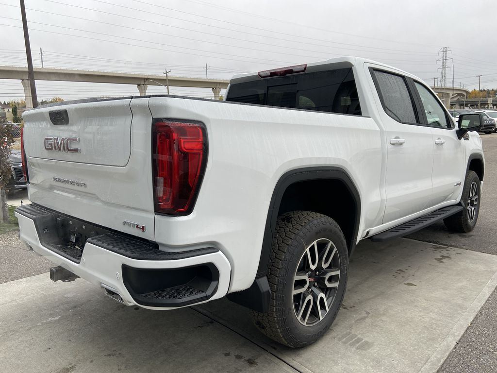 White[Summit White] 2021 GMC Sierra 1500 AT4 Right Rear Corner Photo in Calgary AB