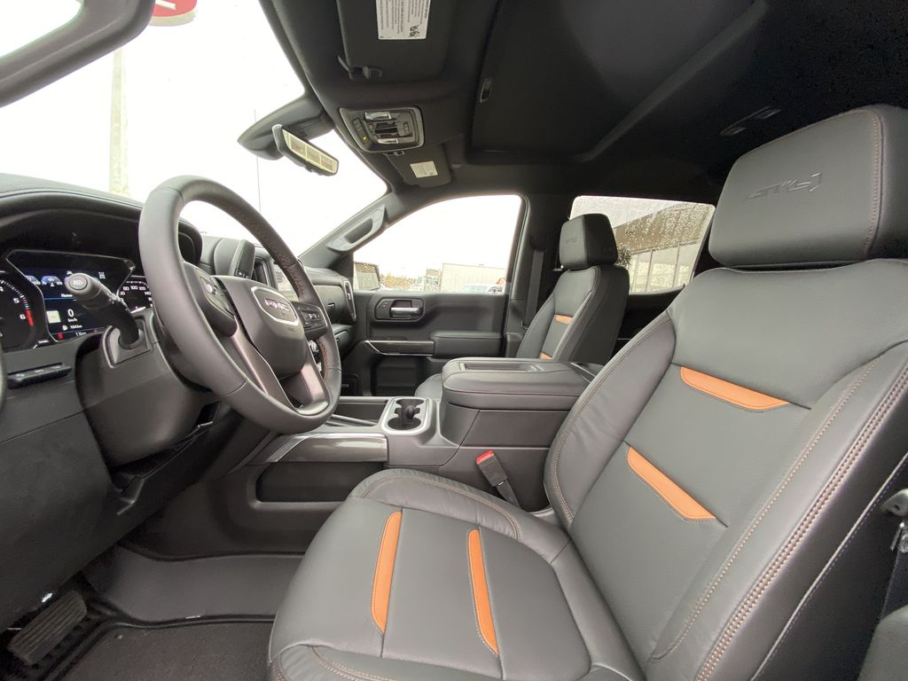 White[Summit White] 2021 GMC Sierra 1500 AT4 Left Front Interior Photo in Calgary AB