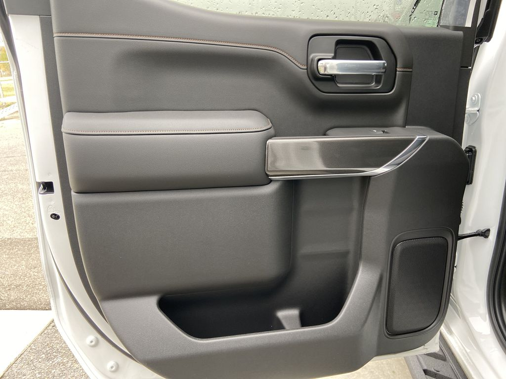 White[Summit White] 2021 GMC Sierra 1500 AT4 Left Rear Interior Door Panel Photo in Calgary AB