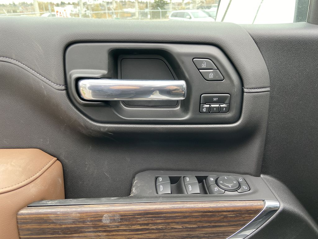White[Iridescent Pearl Tricoat] 2021 Chevrolet Silverado 1500 High Country  Driver's Side Door Controls Photo in Calgary AB