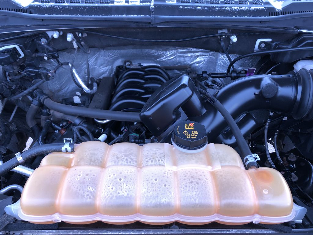 White[Oxford White] 2015 Ford F-150 Engine Compartment Photo in Edmonton AB