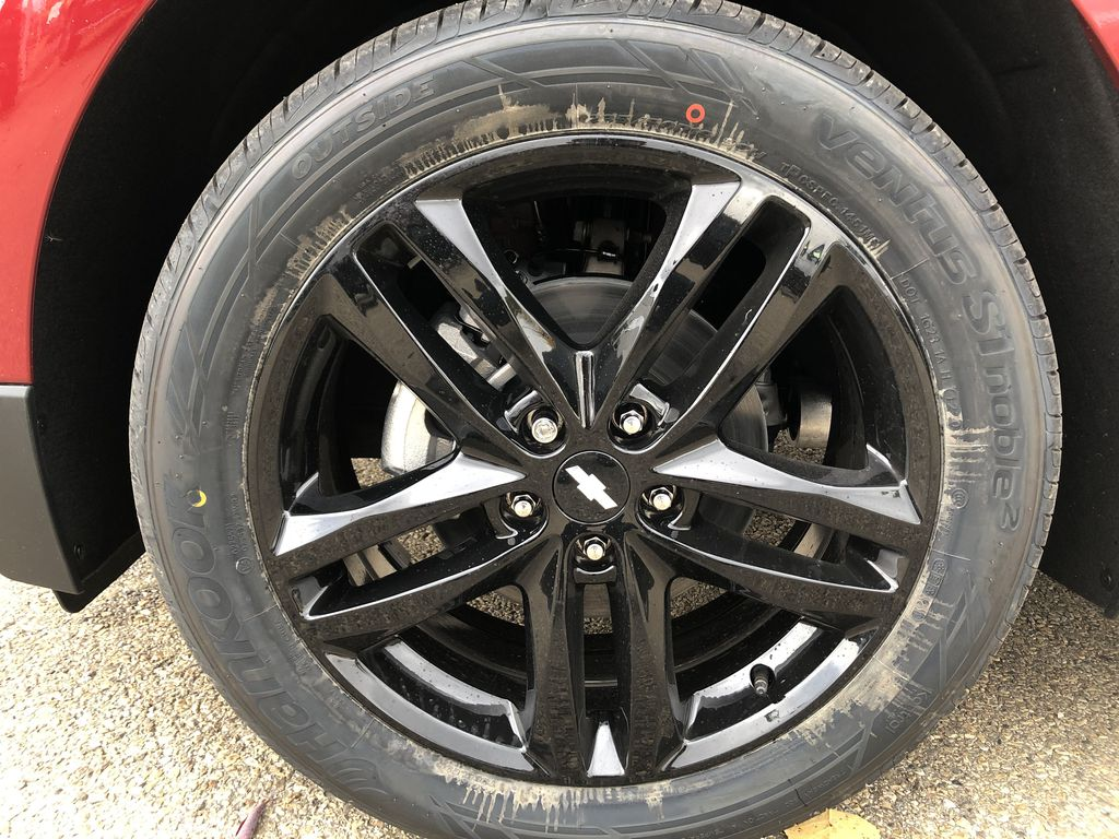 Red[Cajun Red Tintcoat] 2020 Chevrolet Equinox Left Front Rim and Tire Photo in Edmonton AB