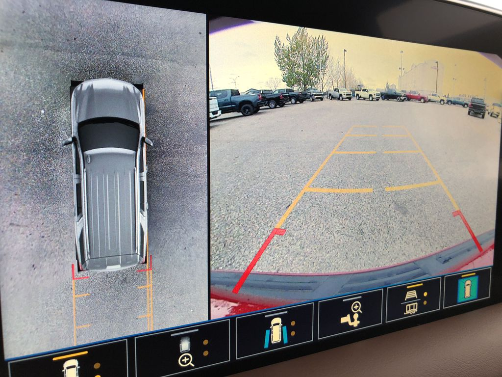 Red[Cherry Red Tintcoat] 2021 Chevrolet Tahoe Backup Camera Closeup Photo in Edmonton AB