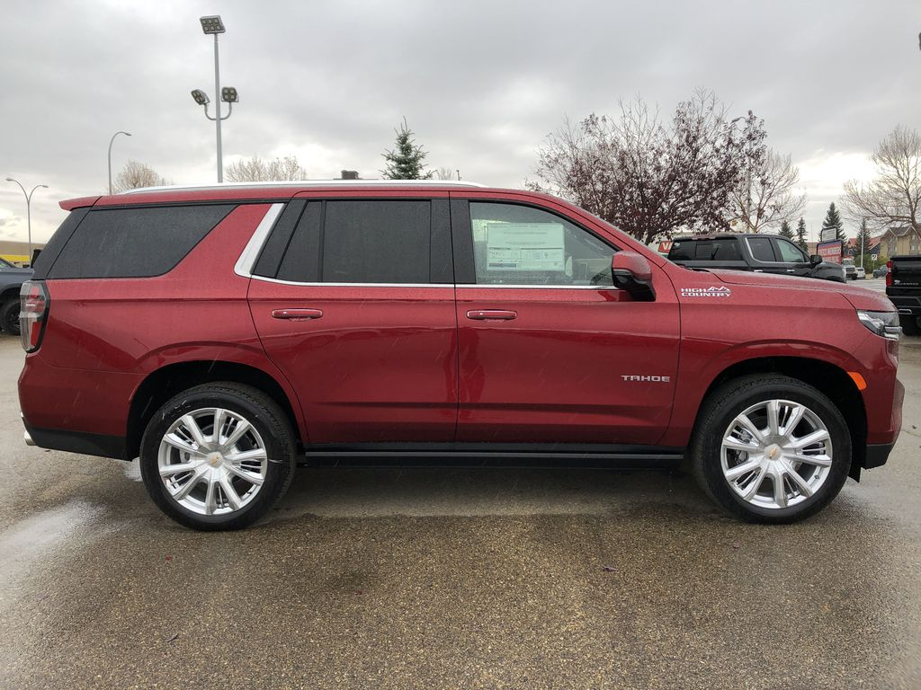 Red[Cherry Red Tintcoat] 2021 Chevrolet Tahoe Right Side Photo in Edmonton AB