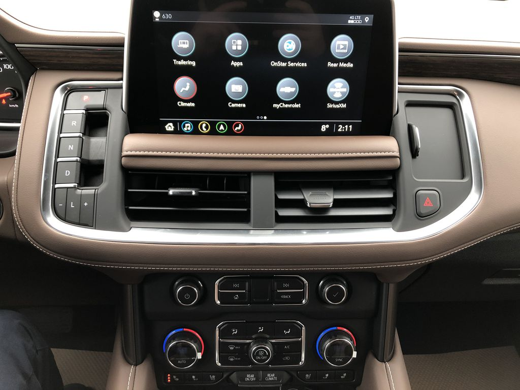 Red[Cherry Red Tintcoat] 2021 Chevrolet Tahoe Central Dash Options Photo in Edmonton AB