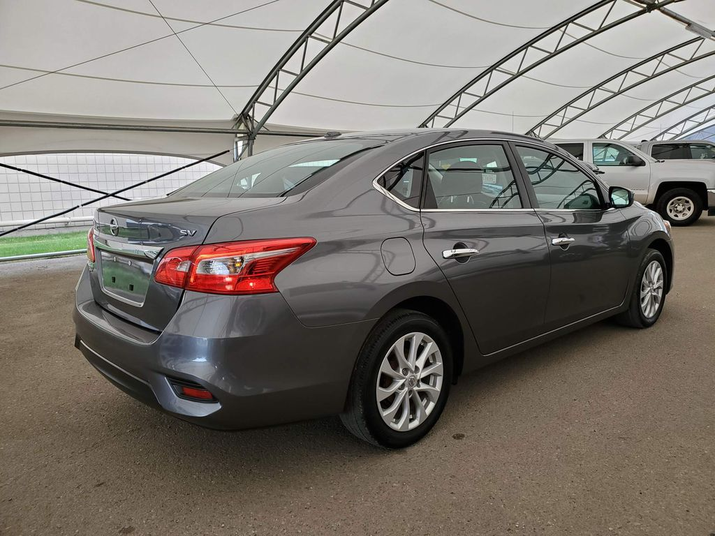 Grey 2017 Nissan Sentra Rear of Vehicle Photo in Airdrie AB