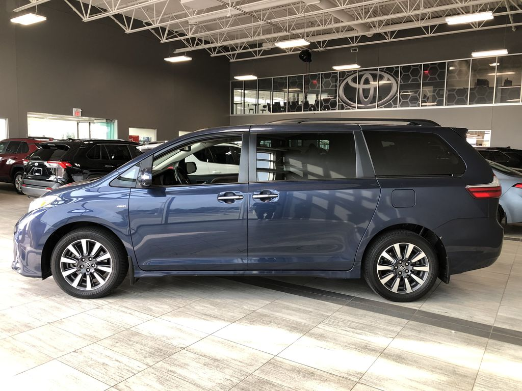 Blue 2019 Toyota Sienna Limited 7-Passenger | Toyota Certified Left Side Photo in Edmonton AB