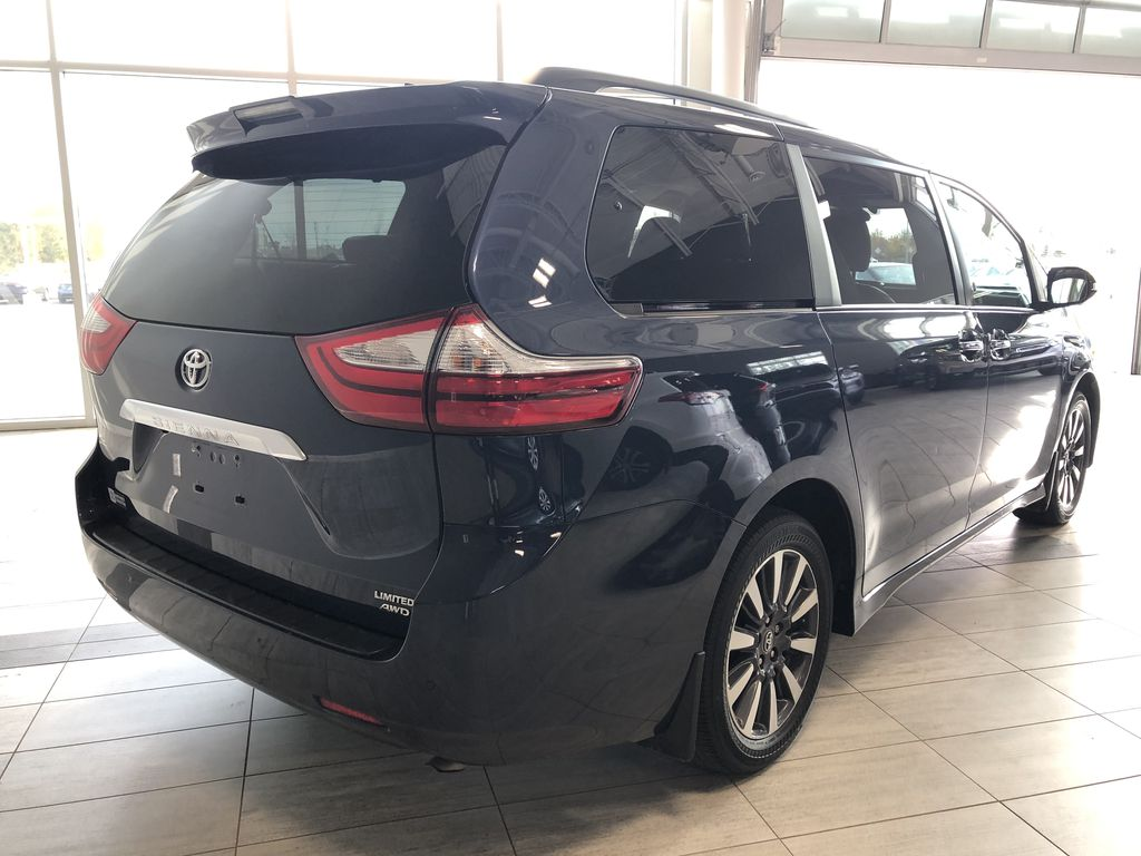 Blue 2019 Toyota Sienna Limited 7-Passenger | Toyota Certified Rear of Vehicle Photo in Edmonton AB