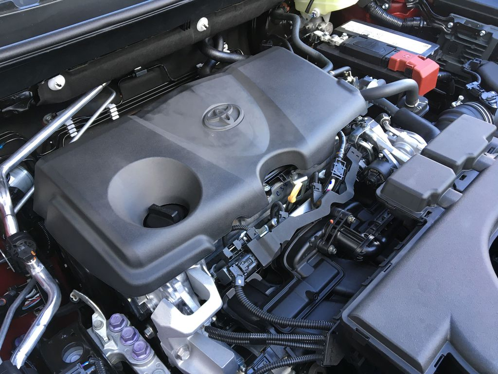 03T3 Ruby Flare Pearl 2021 Toyota RAV4 Limited AWD Engine Compartment Photo in Kelowna BC