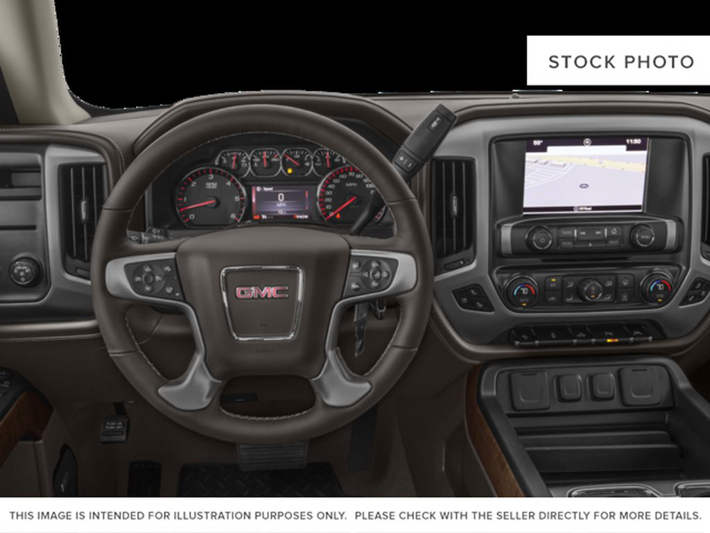White[White Frost Tricoat] 2017 GMC Sierra 1500 Steering Wheel and Dash Photo in Fort Macleod AB