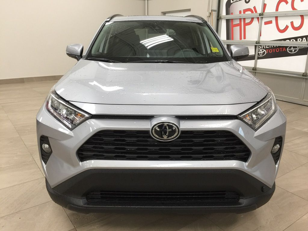 Silver[Silver Sky Metallic] 2021 Toyota RAV4 XLE FWD Front Vehicle Photo in Sherwood Park AB