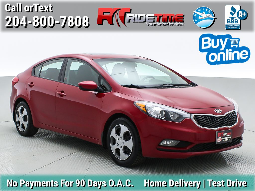 Red[Temptation Red Metallic] 2016 Kia Forte LX Plus w/Sunroof - Automatic, LOW MILEAGE