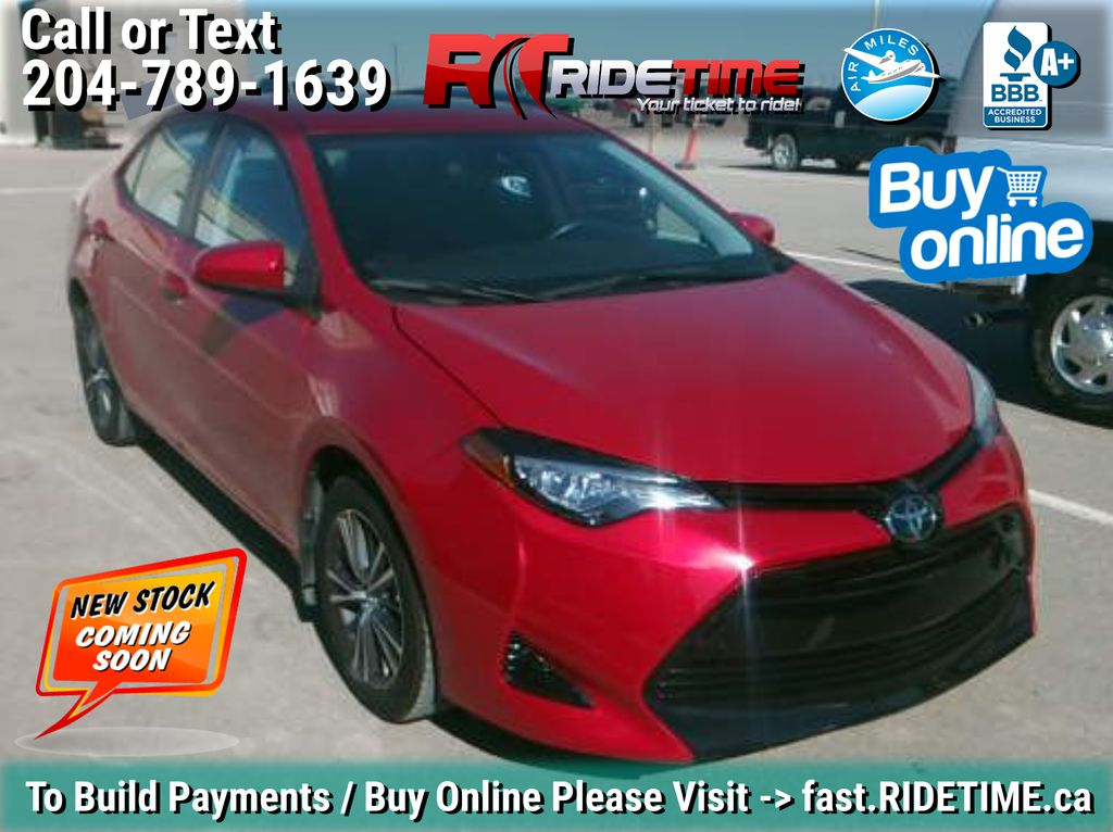 Red[Barcelona Red Metallic] 2017 Toyota Corolla LE - Bluetooth, Heated Seats, Sunroof, Alloy Wheels