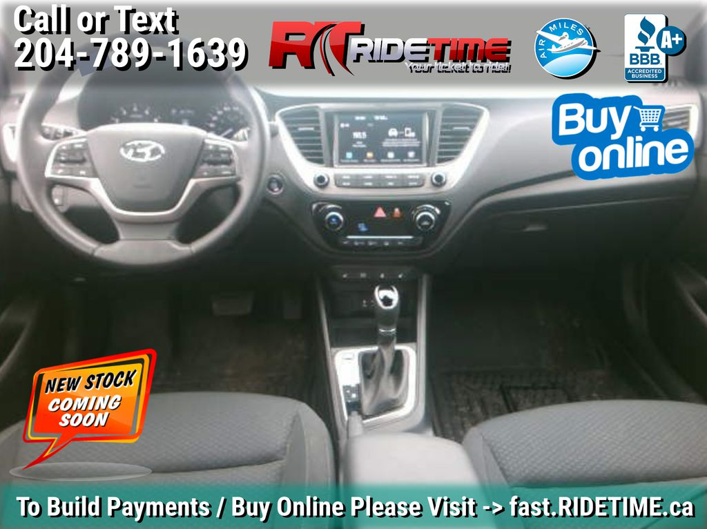 White[Snow White Pearl] 2019 Hyundai Accent Ultimate - ONLY 854 kms, 2 Sets Of Wheels, Sunroof Central Dash Options Photo in Winnipeg MB
