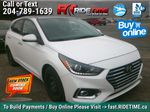 White[Snow White Pearl] 2019 Hyundai Accent Ultimate - ONLY 854 kms, 2 Sets Of Wheels, Sunroof Primary Listing Photo in Winnipeg MB