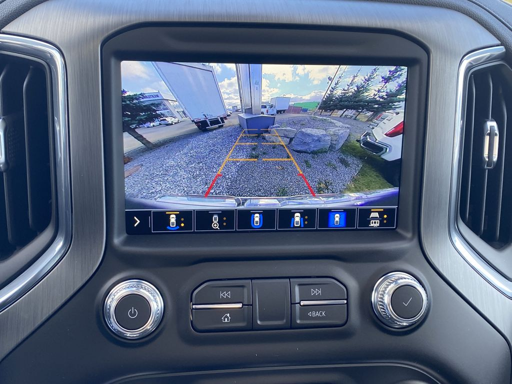 White[White Frost Tricoat] 2021 GMC Sierra 1500 Backup Camera Closeup Photo in Edmonton AB